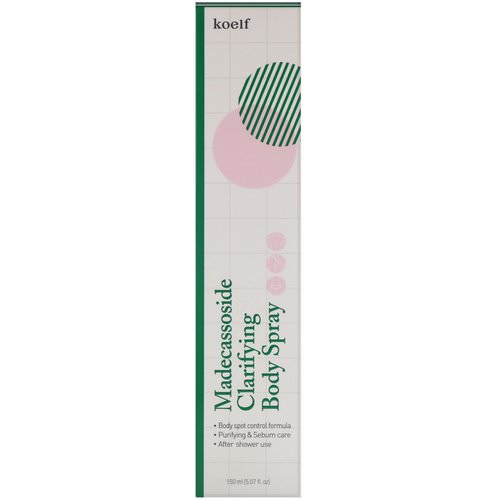 Koelf, Madecassoside Clarifying Body Spray, 5.07 fl oz (150 ml) فوائد