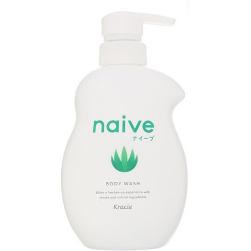 Kracie, Naive, Body Wash, Aloe, 17.9 fl oz (530 ml) فوائد