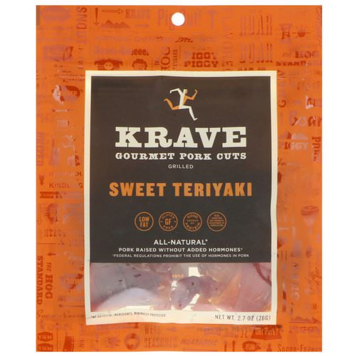 Krave, Gourmet Pork Cuts, Sweet Teriyaki, 2.7 oz (76 g) فوائد