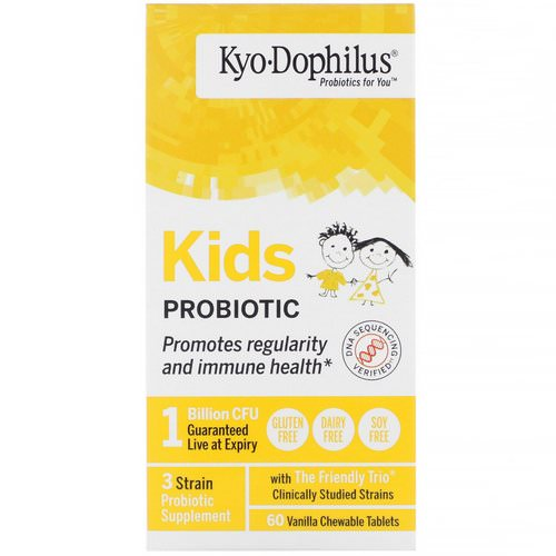 Kyolic, Kids Probiotic, Vanilla, 60 Chewable Tablets فوائد