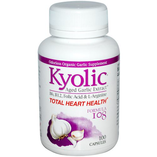 Kyolic, Total Heart Health, Formula 108, 100 Capsules فوائد