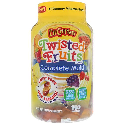 L'il Critters, Twisted Fruits Complete Multivitamin, 140 Gummies فوائد
