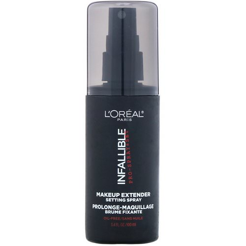 L'Oreal, Infallible Pro-Spray & Set Makeup Extender Setting Spray, 3.4 fl oz (100 ml) فوائد