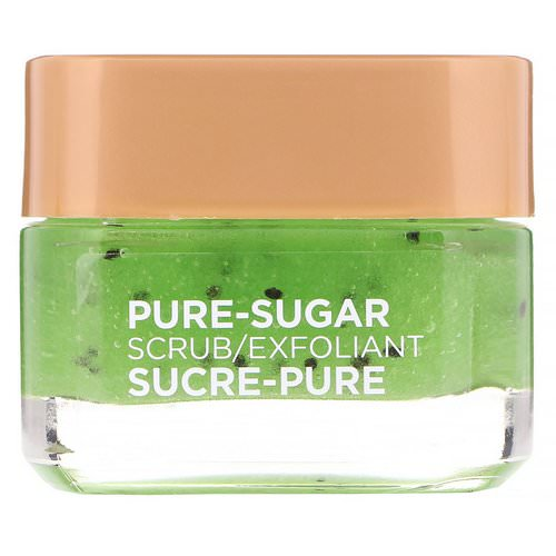 L'Oreal, Pure-Sugar Scrub, Purify & Unclog, 3 Pure Sugars + Kiwi, 1.7 oz (48 g) فوائد