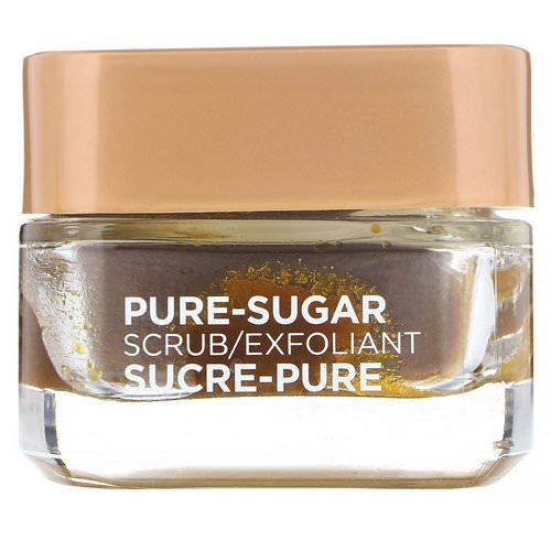 L'Oreal, Pure-Sugar Scrub, Smooth & Glow, 3 Pure Sugars + Grapeseed, 1.7 oz (48 g) فوائد