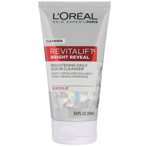 L'Oreal, Revitalift Bright Reveal, Brightening Daily Scrub Cleanser, 5 fl oz (150 ml) فوائد