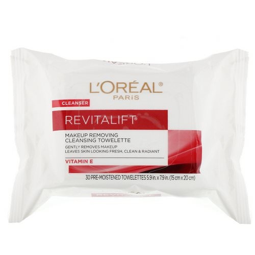 L'Oreal, Revitalift Makeup Removing Cleansing Towelettes, 30 Pre-Moistened Towelettes فوائد