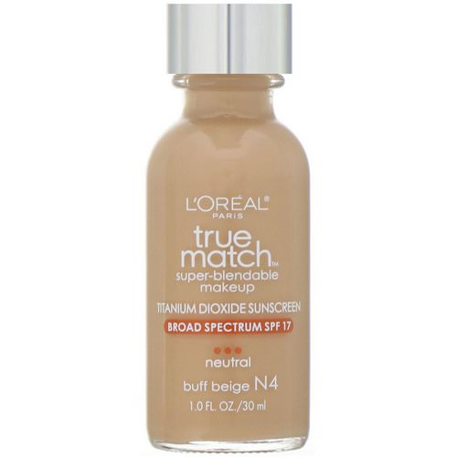 L'Oreal, True Match Super-Blendable Makeup, N4 Buff Beige, 1 fl oz (30 ml) فوائد