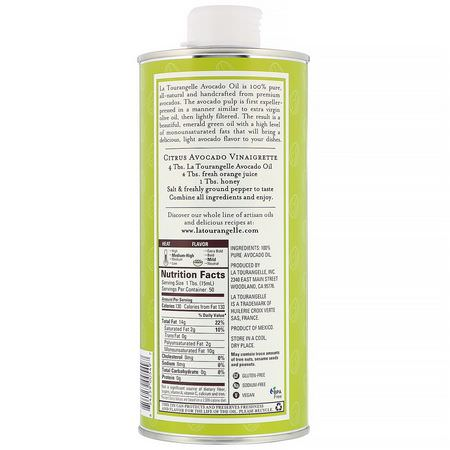 La Tourangelle, Avocado Oil, 25.4 fl oz (750 ml):زيت الأف,كاد, الخل