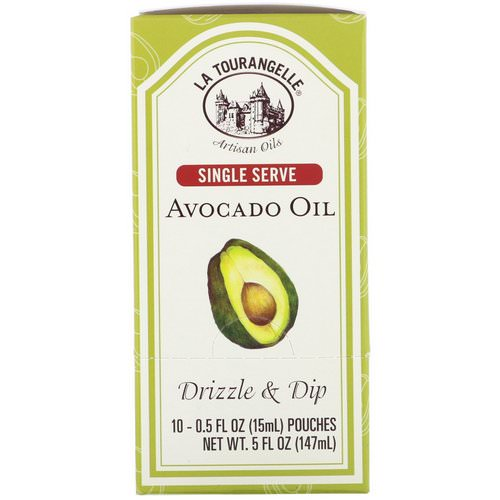 La Tourangelle, Drizzle & Dip, Avocado Oil, 10 Pouches, 0.5 fl oz (15 ml) Each فوائد