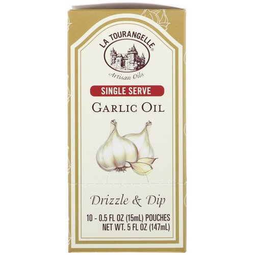 La Tourangelle, Drizzle & Dip, Garlic Oil, 10 Pouches, 0.5 fl oz (15 ml) Each فوائد