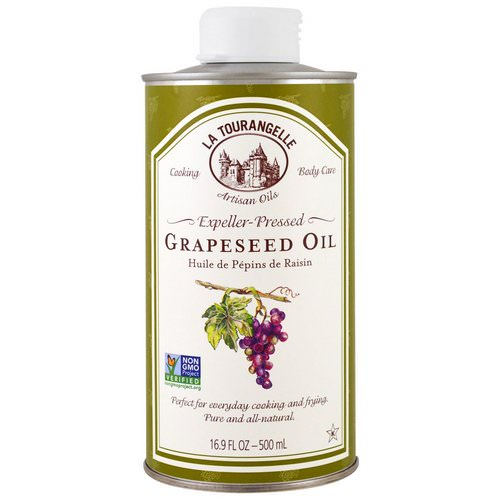 La Tourangelle, Expeller-Pressed Grapeseed Oil, 16.9 fl oz (500 ml) فوائد