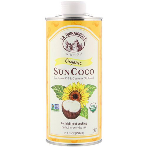 La Tourangelle, Organic SunCoco, Sunflower Oil & Coconut Oil Blend, 25.4 fl oz (750 ml) فوائد