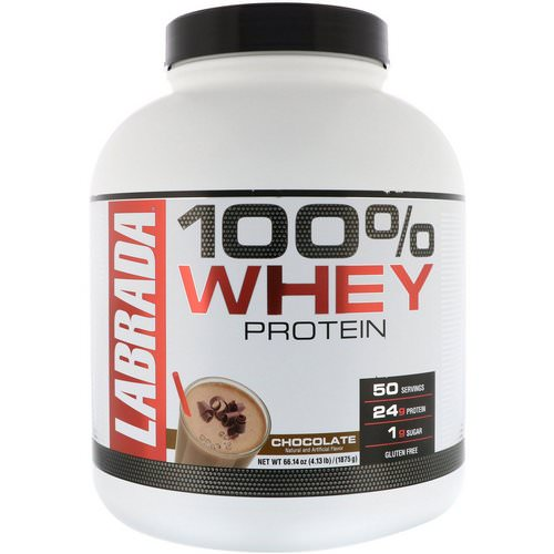 Labrada Nutrition, 100% Whey Protein, Chocolate, 4.13 lbs (1875 g) فوائد