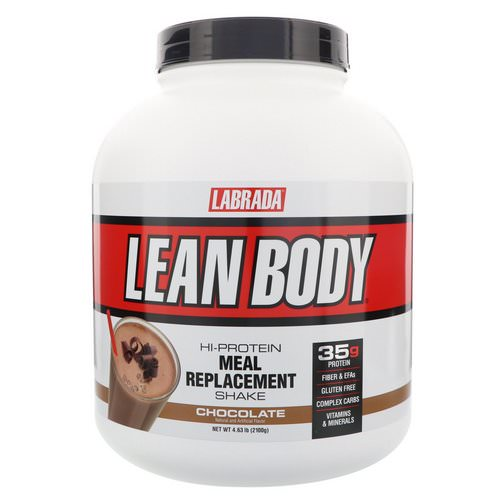 Labrada Nutrition, Lean Body, Hi-Protein Meal Replacement Shake, Chocolate, 4.63 lbs (2100 g) فوائد