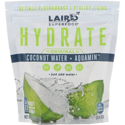 Laird Superfood, Hydrate, Original, Coconut Water + Aquamin, 8 oz (227 g) فوائد