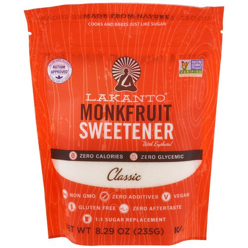Lakanto, Monkfruit Sweetener with Erythritol, Classic, 8.29 oz (235g) فوائد