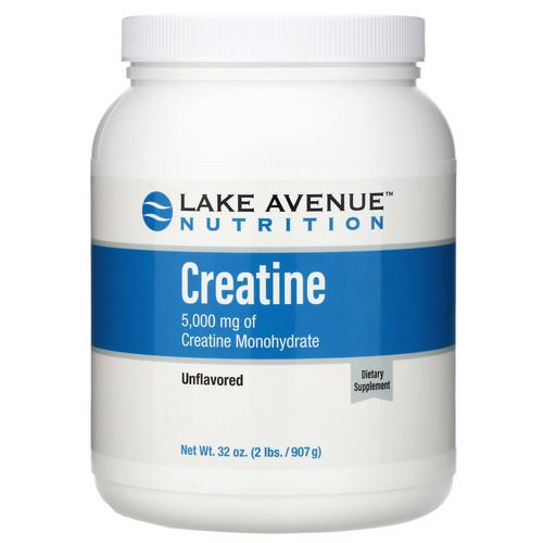 Lake Avenue Nutrition, Creatine Powder, Unflavored, 5,000 mg, 2 lb (907 g) فوائد