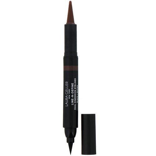 Laura Geller, Line-N-Define, Dual Dimensional Eyeliner, Liquid & Kohl Eyeliner, Black/Brown, 0.07 fl oz (2 ml) / 0.017 oz (0.5 g) فوائد