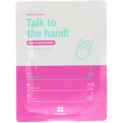 Leaders, Essential Wonders, Talk to the Hand, Moisturizing Hand Mask, 1 Pair, 16 ml فوائد