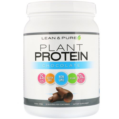 Lean & Pure, Plant Protein, Chocolate, 19.3 oz (548 g) فوائد