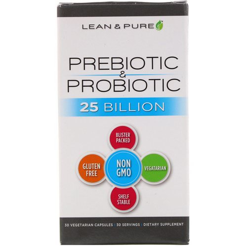 Lean & Pure, Prebiotic & Probiotic Complete, 25 Billion, 30 Vegetarian Capsules فوائد