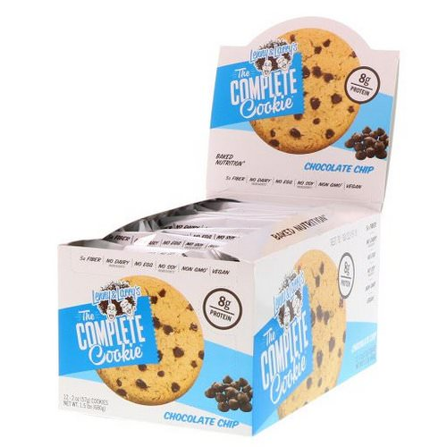 Lenny & Larry's, The Complete Cookie, Chocolate Chip, 12 Cookies, 2 oz (57 g) Each فوائد