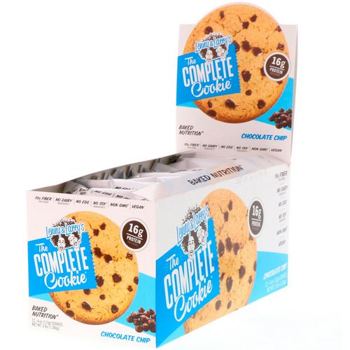 Lenny & Larry's, The Complete Cookie, Chocolate Chip, 12 Cookies, 4 oz (113 g) Each فوائد