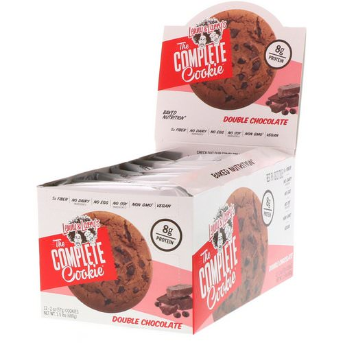 Lenny & Larry's, The Complete Cookie, Double Chocolate, 12 Cookies, 2 oz (57 g) Each فوائد