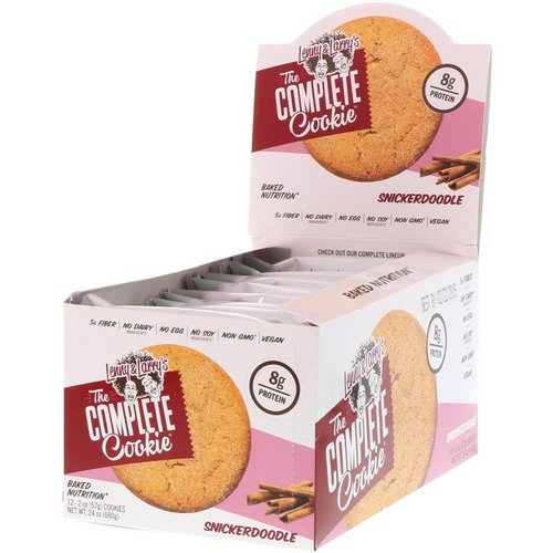 Lenny & Larry's, The Complete Cookie Snickerdoodle, 12 Cookies, 2 oz (57 g) Each فوائد