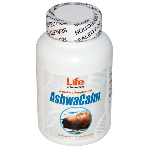 Life Enhancement, AshwaCalm, 300 mg, 120 Capsules فوائد