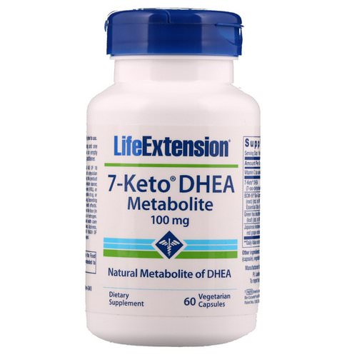 Life Extension, 7-Keto DHEA, Metabolite, 100 mg, 60 Vegetarian Capsules فوائد