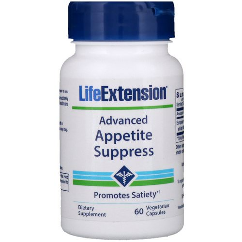 Life Extension, Advanced Appetite Suppress, 60 Vegetarian Capsules فوائد