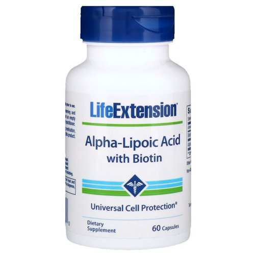 Life Extension, Alpha-Lipoic Acid with Biotin, 60 Capsules فوائد