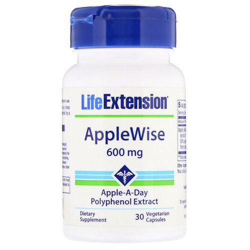 Life Extension, AppleWise, 600 mg, 30 Vegetarian Capsules فوائد