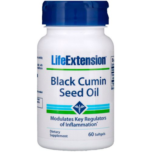 Life Extension, Black Cumin Seed Oil, 60 Softgels فوائد