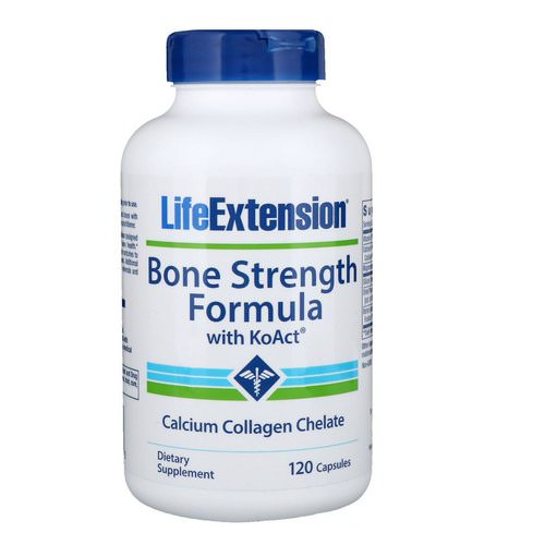 Life Extension, Bone Strength Formula with KoAct, 120 Capsules فوائد