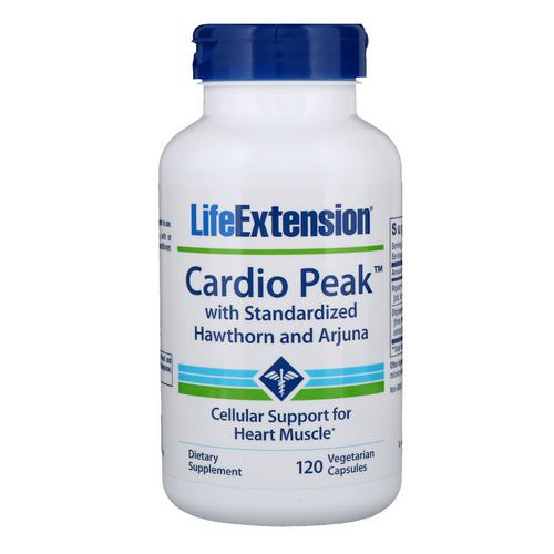 Life Extension, Cardio Peak with Standardized Hawthorn and Arjuna, 120 Vegetarian Capsules فوائد