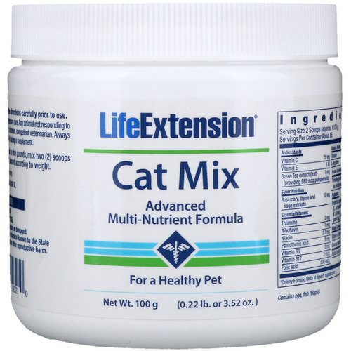 Life Extension, Cat Mix, Advanced Multi-Nutrient Formula, 3.52 oz (100 g) فوائد