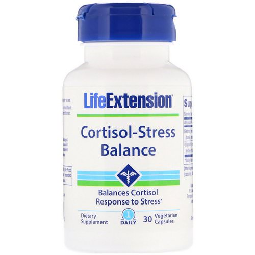 Life Extension, Cortisol-Stress Balance, 30 Vegetarian Capsules فوائد