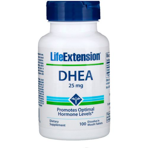 Life Extension, DHEA, 25 mg, 100 Dissolve in Mouth Tablets فوائد
