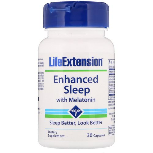 Life Extension, Enhanced Sleep with Melatonin, 30 Capsules فوائد