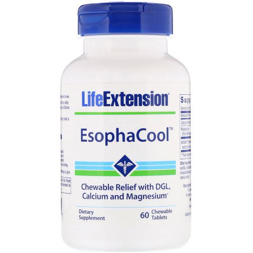 Life Extension, EsophaCool, 60 Chewable Tablets فوائد