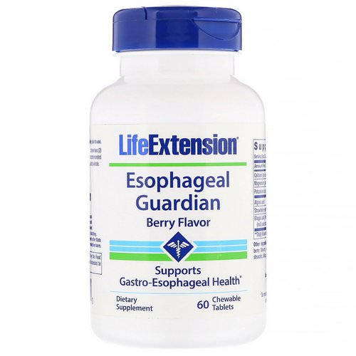 Life Extension, Esophageal Guardian, Berry Flavor, 60 Chewable Tablets فوائد