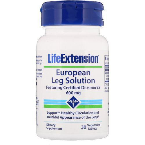 Life Extension, European Leg Solution, Featuring Certified Diosmin 95, 600 mg, 30 Vegetarian Tablets فوائد