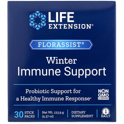 Life Extension, Florassist Winter Immune Support, 30 Stick Packs فوائد