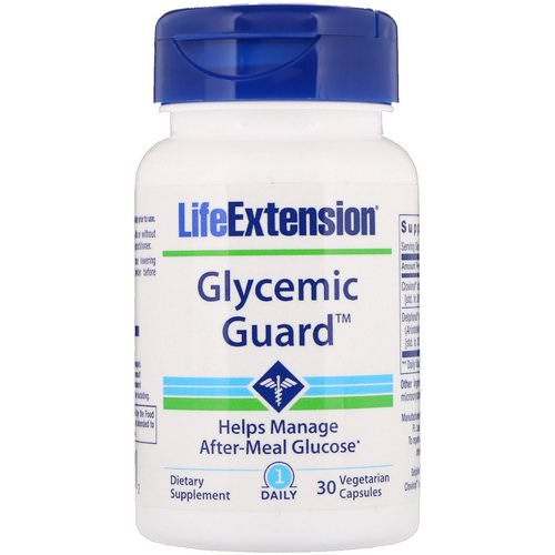 Life Extension, Glycemic Guard, 30 Vegetarian Capsules فوائد
