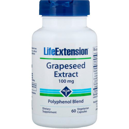 Life Extension, Grapeseed Extract, 100 mg, 60 Vegetarian Capsules فوائد