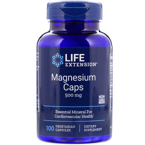 Life Extension, Magnesium Caps, 500 mg, 100 Vegetarian Capsules فوائد
