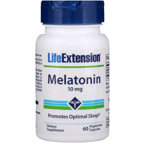 Life Extension, Melatonin, 10 mg, 60 Vegetarian Capsules فوائد
